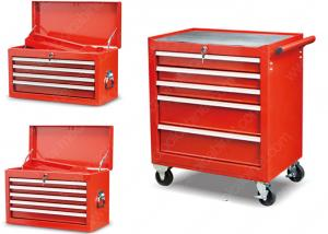 China 27 Inches Tool Box Side Cabinet 5 Drawer Powder Coated Safe Packing For Auto Repairing on sale