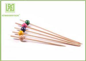 China Fancy Extra Long Toothpicks Skewers , Wood Beads Smooth Bamboo Food Picks on sale