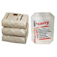 Custom Printed Block Bottom Valve Bag , 50kg 25kg Cement Bag Eco Friendly