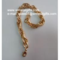 Imitation gold fashion steel jewelry chain bracelet chain bangle