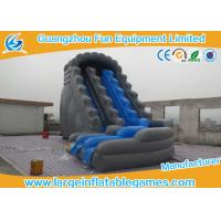 Professional Childrens Inflatable Backyard Water Slide Gray Bouncer Slide Inflatable Toys