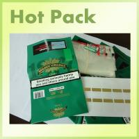 China G&V Printed Rolling Tobacco Pouch zipper rolling tobacco pouch with self adhesive on sale