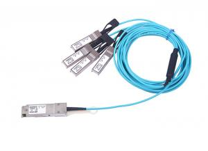 China Fiber Network AOC QSFP+ To SFP+ Cable 1-150m Distance Two Wire Serial interface on sale