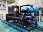 Flooded water cooled screw chiller