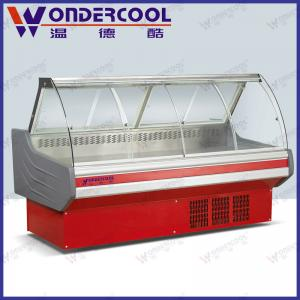 China 2M supermarket deli showcase refrigerator commercial meat display freezer on sale