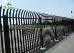 2.4m High Security Steel Palisade Fencing 3.0mm Thickness HDG Powder Coating