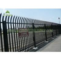 China 2.4m High Security Steel Palisade Fencing 3.0mm Thickness HDG Powder Coating   on sale