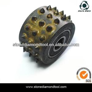 China 45 grains Bush Hammer Rollers for litchi surface concrete abrasive tools on sale