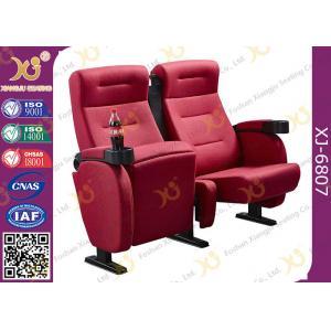 China Luxury 3d Theater Cinema Chair / Sponge + Fabric + Steel Movie Seat on sale