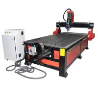China 4*8 Feet 4 Axis Wood CNC Router with Underneath Rotary Axis/Mach3 Control on sale