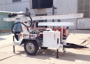 China 2Wheel Trailer mounted hydraulic water well drilling,suit for DTH air drilling and mud pump drilling on sale