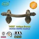 Ref No H003 zamak Metal Coffin Handles size 22.5*10.5 Shell shape color antique bronze and antique copper