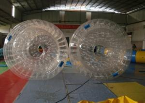 China Waterproof Plato PVC Inflatable Water Toys , Inflatable Water Roller on sale