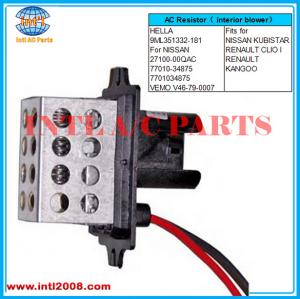Heater A//C Blower Motor Resistor For Nissan Kubistar Renault Clio Kangoo Express