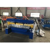 8 Kw Corrugated Roll Forming Machine , Roofing Sheet Metal Rolling Machine With PLC Control