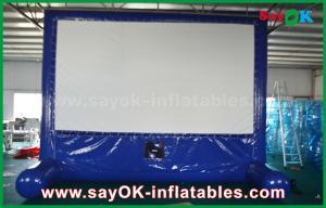 China Blue Inflatable Outdoor Movie Screen Customized for Advertising / Party / Event on sale