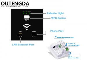 China Wireless 300M 802.11 N Access Point In Wall WiFi Signal Booster Extender 100V / 240V on sale