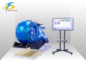China Red & Blue Track Motor VR Motorbike Simulator / Car Racing Game Machine on sale