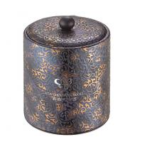 Hotel and bar use PU leather ice bucket with tong