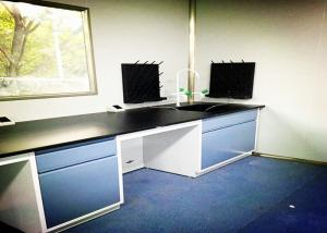 China C Frame Steel Lab Bench High Durability Solid Phenolic Worktop Integrated Design on sale