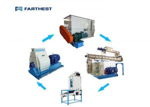 China Automatic Animal Chicken Feed Pellet Production Line Small Size Customized Design on sale