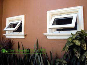 China Double glazing Upvc windows,awning windows, PVC top hung window on sale
