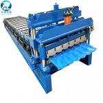 China Hydraulic Cutting Glazed Tile Roll Forming Machine With 14 Roller Station wholesale