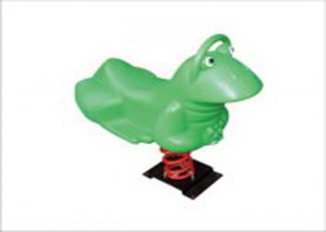 China Frog Shape Preschool Playground Spring Rider Toys For Kids Eco Friendly KP-F015 on sale