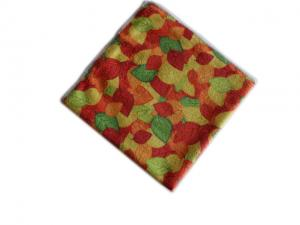 China Printed Microfiber Cleaning Towel Autumn Leaves on sale