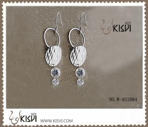 China 925 Fashion jewelry sterling silver gemstone earrings with PP bag packing W-AS1084 on sale