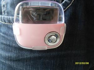 China Belt Clip Pink Calorie Counter Pedometer with distance and Calories measurements on sale
