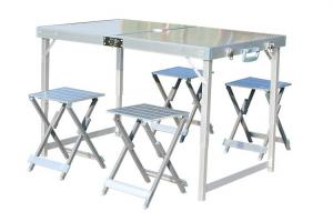 China Aluminium Folding Outdoor Camping Set Table & 4 Chairs on sale