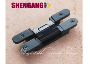 China 40kg Flush Door Adjustable Concealed Hinges Black Color Hinge Zamak Die Casting Loops on sale