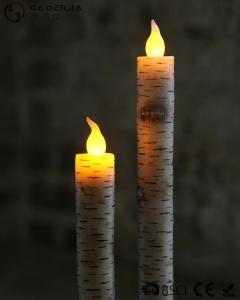 China Warm White Light Taper Led Candles With Moving Flame AA Battery Type on sale