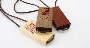 China USB 2.0 Flash Stick With Hand Strap,Customized 8GB Bamboo U-Disk on sale