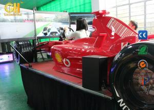 China 360 Degree Driving Hydraulic Racing SimulatorWith Triple Screens 1 Year Warranty on sale