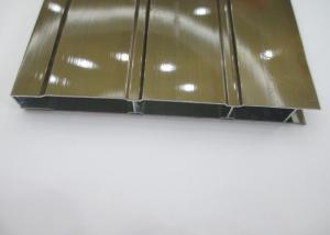 China 電気泳動の絵画アルミニウム引き戸はスラット、突き出されたアルミニウム プロフィールの側面図を描きます on sale