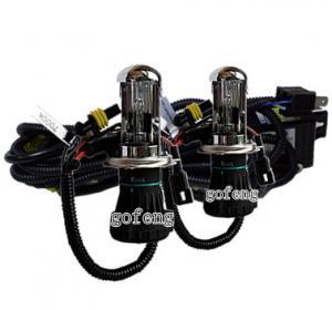 China Custom H4 Hi / Lo Bi 4300K / 6000K / 8000K HID Xenon Headlamps with Anti UV Quartz Glasses on sale
