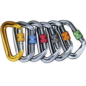 China 25KN Hot-forged Magnalium Auto locking Climber Carabiner for Hiking/Travel/Mountaineer on sale