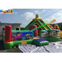 Outdoor Minion Inflatable Bouncer Slide , Funny Combo Slide 0.55mm PVC Tarpaulin