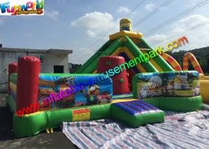 China Outdoor Minion Inflatable Bouncer Slide , Funny Combo Slide 0.55mm PVC Tarpaulin on sale