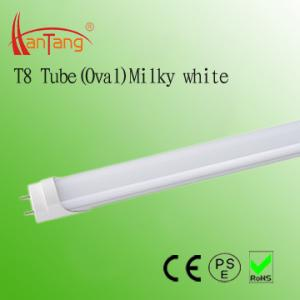 China Oval Milky T8 18W LED Fluorescent Tubes Replacement 85 ~ 265V AC With RoHS, CE Certificate on sale