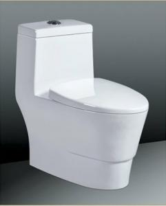 China One-Piece Ceramic Toilet Sanitary Ware , Floor Mounted Toilet on sale
