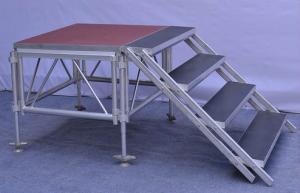 China Anti - Slip Square Aluminum Folding Stage , Smart Mobile Outdoor Stage Platform on sale