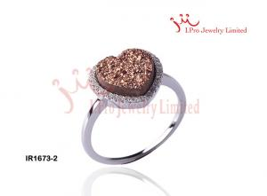 China 925 Sterling silver Jewelry Ring wih color stone,IR1673-2 supplier