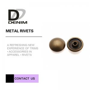 China Antique Brass Rivet For Clothing • Clothing Rivets • Decorative Rivets • Garment Rivet  • Mushroom Head Rivet on sale