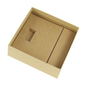 Rectangle Gold Foil Matte Square Gift Box Flat Folding Cardboard