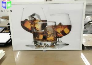 China Single Sided White Snap Frame LED Light Box Illuminated Energy Saving on sale