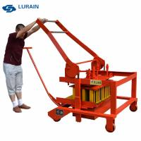 Diesel engine egg laying concrete block and brick making machine sell well in Ethiopia