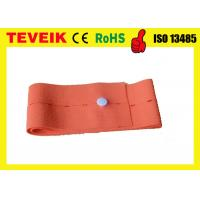 Orange Abdominal Elastic CTG Belt / Disposable Fetal Probe Strap 6cm * 120 cm
